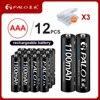 12/16/20/24Pcs PALO 100% originale 1.2V AAA Batterie Ricaricabili NIMH 1100mAh 3A AAA batteria ricaricabile per auto giocattolo