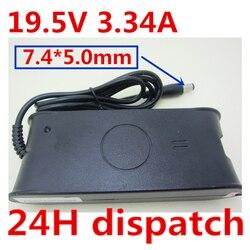 HSW zasilacz do laptopa do dell 19.5V 3.34A 65W ładowarka zasilająca PA 21 dla dell Inspiron 15 1545 1750 XPS  M1330 w Adapter do laptopa od Komputer i biuro na