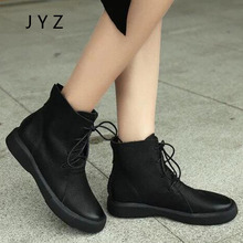 2018 New Fashion Womens Ankle Boots Casual Flats Soft Boot Leisure Shoes Lady wo180861