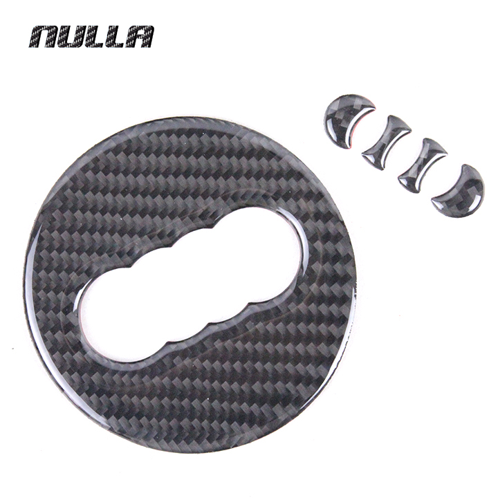 NULLA For Audi A1 A3 A4 A5 A6 A7 A8 Q3 Q5 Q7 A4L Carbon Fiber Car Styling Interior Steering Wheel Center Sticker New Soft Design xenplus new oem d3s d3r d4s d4r xenon ballast 8k0941597e w003t22071 for audi a1 a3 a4 a5 a6 a7 a8 q3 for vw cc seat skoda