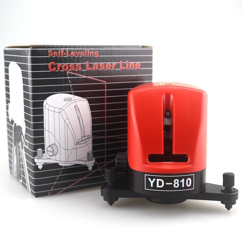 YD-810 ACUANGLE A8810 635nm Laser Niveau 360 Rotatif 2 Croix Rouge Ligne Lazer Leverling Instrument De Diagnostic Automatique Sac Souple