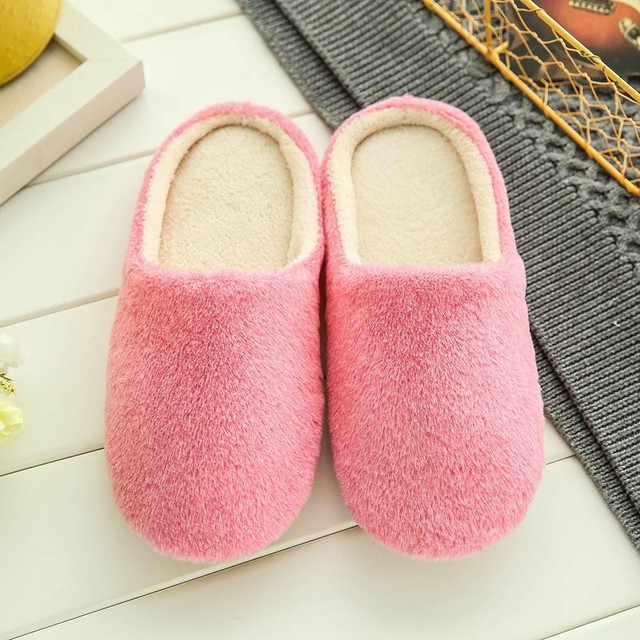 Soft Plush Home Men Indoor Cotton Shoes 3
