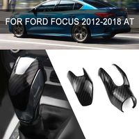 2019 New Gear Shift Knob For Ford Focus 2012 2018 AT ABS Carbon Fiber Inner Gear Shift Knob Cover Trim Interior Gear Shifter