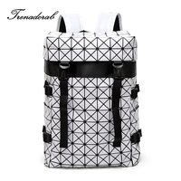 Trenadorab Brand Women Backpack High Quality Diamond Lattice Backpack Geometric Quilted Travelling Women BACKPACK BAOBAO