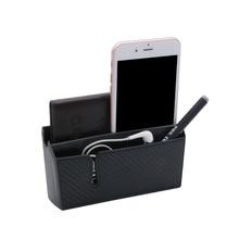 Car double cell phone locker box carbon fiber face car placement bag DM-019/020