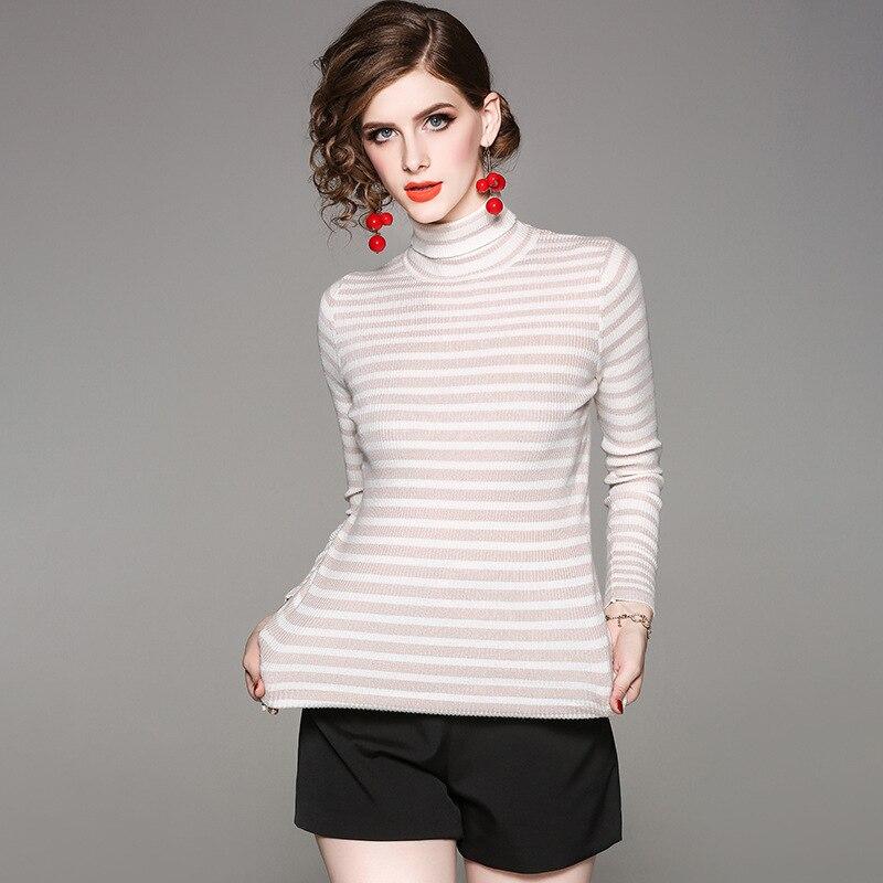 dd9252c54553 A-righe-collo-alto-in-maglia-elastica-sottile-pullover-maglione-2018-nuove-donne-di-autunno-maglione.jpg