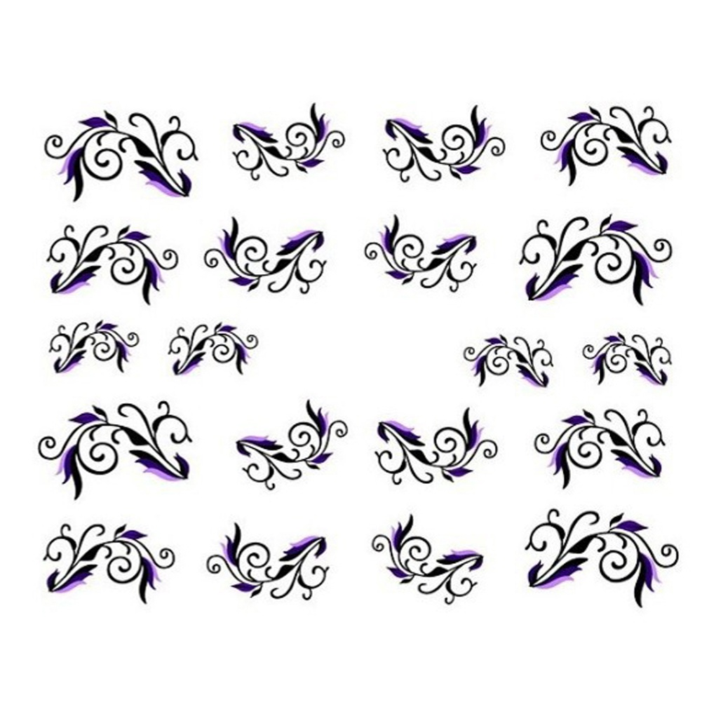 Manicure Tools 1sheets New Fashion Decals Water Transfer
