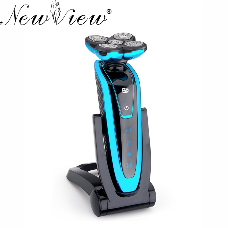 Rechargeable Electric Shaver Washable Rotary Men Razor 5D Floating Blades Beard Hair Trimmer Shaving Machine wet dry 5d electric shaver electric razor for men rechargeable men s beard shaving machine waterproof 2017 new