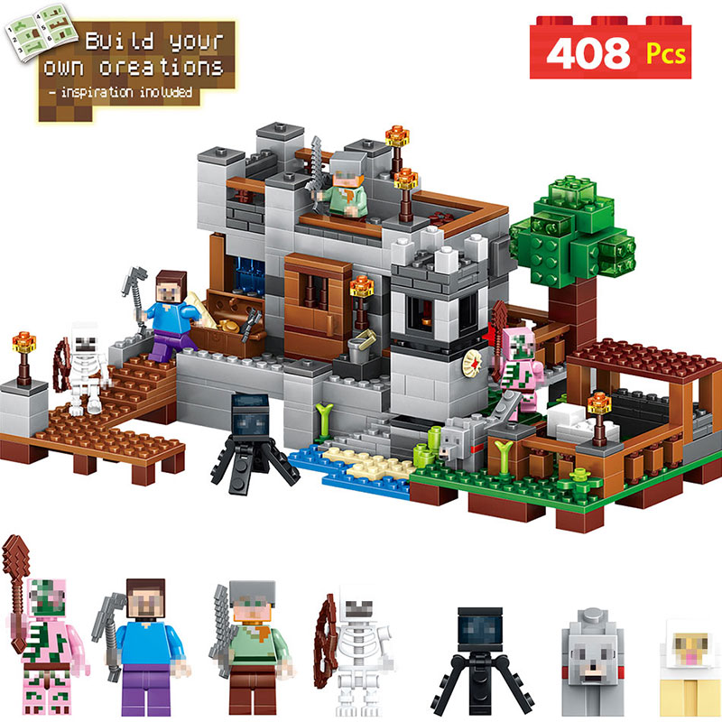 My World Harbor Wharf Building Blocks Educational For Toddlers Clever Construction Toys Compatible LegoINGlys Minecrafter lele my world power morse train building blocks kits classic educational children toys compatible legoinglys minecrafter 541 pcs
