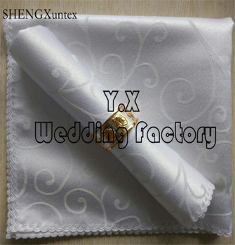Wholesale Price Jacquard Damask Table Napkin For Table Cloth Decoration