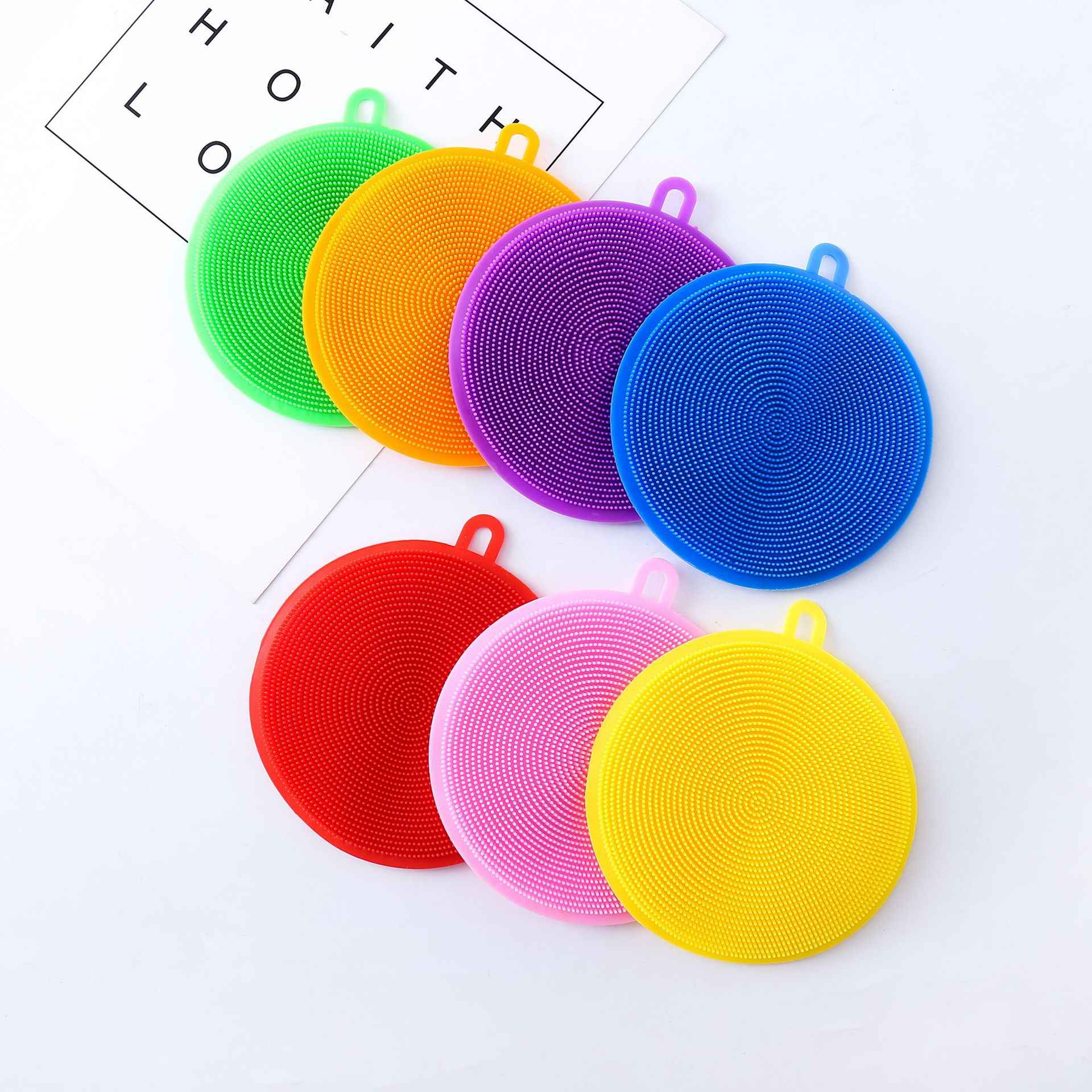 Magic Cleaning Brushes Silicone Dish Bowl Scouring Pads Pot Pan Easy to Clean Wash Brushes Cleaner Sponges Dish Rags