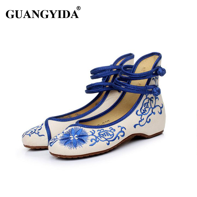 2017 Classic Women Shoes Old Beijing Mary Jane Flats With