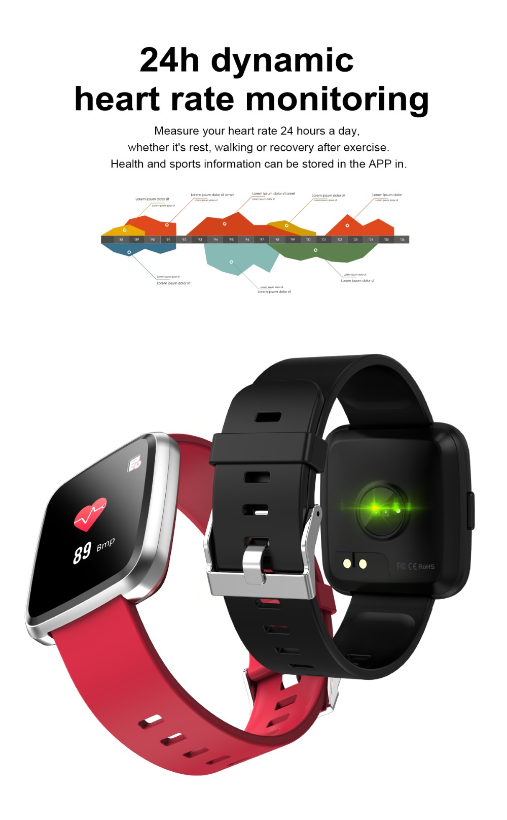 US $44 55 7% OFF|smartband 2019 Smart Bracelet Heart Rate Monitor VK skype  FB info push Fitness Bracelet Clock Full Touch Screen smartwatch Band-in