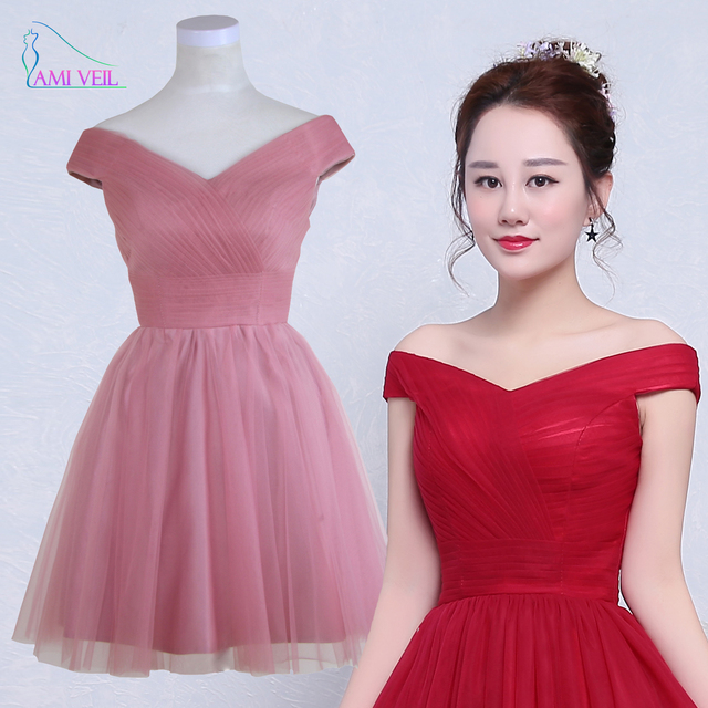 Pink Prom Dress Short Burgundy Mini Cocktail Dresses Style Party ...