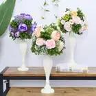 Flone Свадебный деревянный стол центральный цветы реквизит с вазой дорога свинцовый цветок шар Декоративные искусственные цветы отель Рожде...
