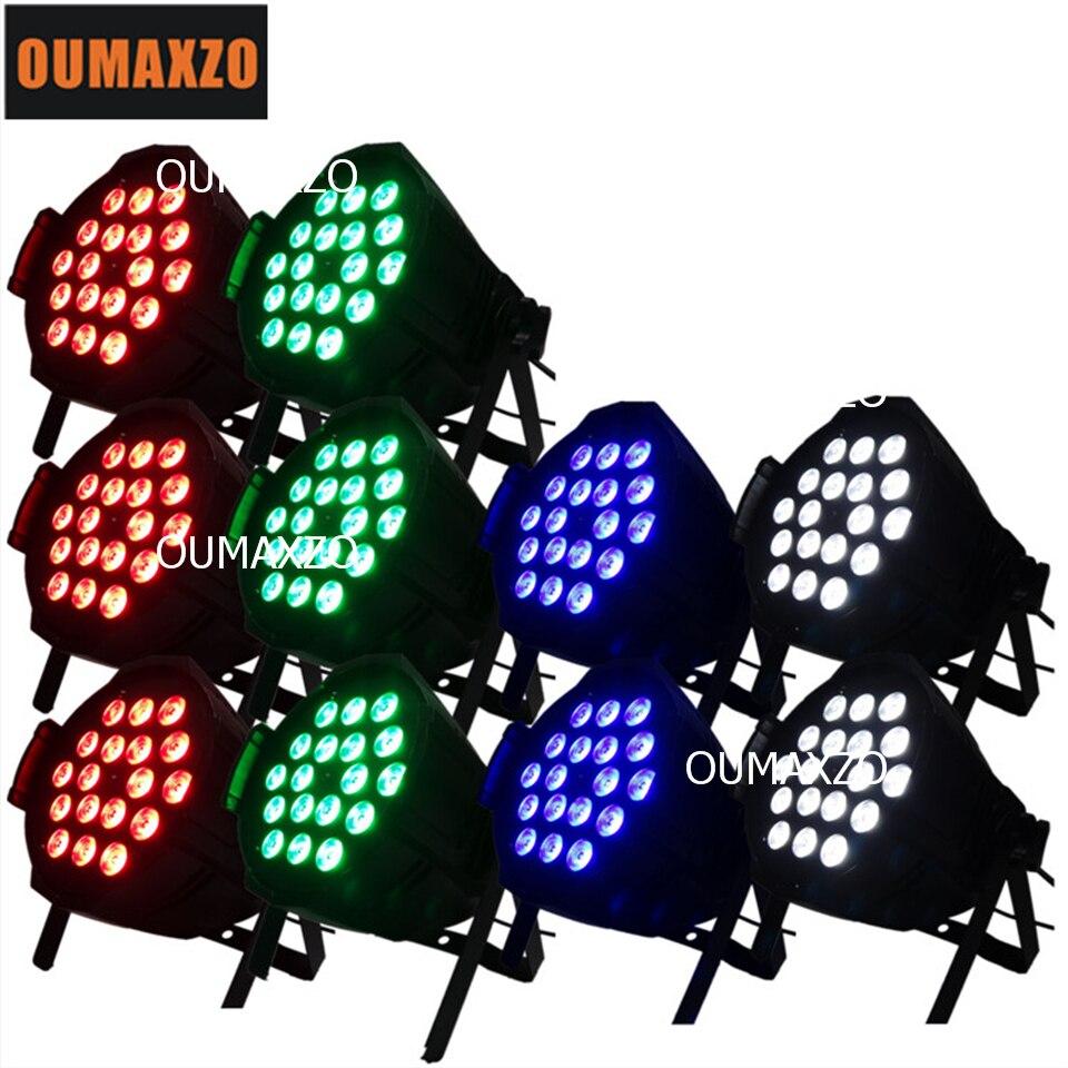 10pcs/lot LED Stage Light Colour Par 18PCS 4in1 12W Washer Light disco LED par can indoor 18pcs 12W RGBW 4in1 lighting par led