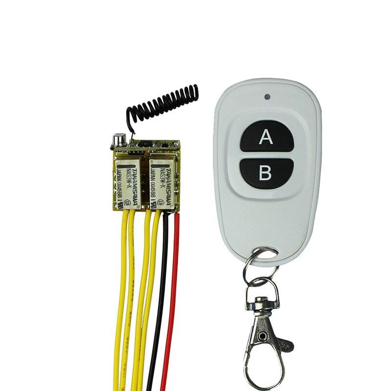 Micro 2CH Relay Remote Switch 3.7v  9v 12v 2Button Remote NO COM NC Small Volume Contact Wireless Switch cltgxdd aj 131 micro switch 3 5 3 1 8 for citroen c1 c2 c3 c4 c5 c6 c8 remote key fob repair switch micro button