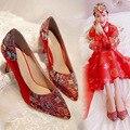 Zapatos de Mujer, Zapatos de Boda Zapatos de Tacón Rojo de La Boda chino Sy-2201