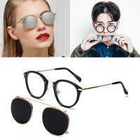 JackJad nouvelle mode SteamPunk Style lentille amovible Cool lunettes De soleil Clip sur Vintage marque Design lunettes De soleil Oculos De Sol 8937