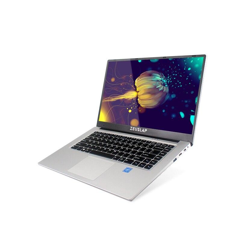 ZEUSLAP новый 15,6 дюймов 1920*108 P ips экран 6 ГБ оперативная память 64 ssd 500 hdd win 10 быстрая загрузка дешевые нетбук ноутбук тетрадь компьютер