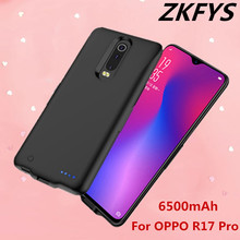 6500mAh High Quality Silicone Anti-drop Back Clip Battery Charger Cases For OPPO R17 Pro Power Bank Fast Charger Battery Case