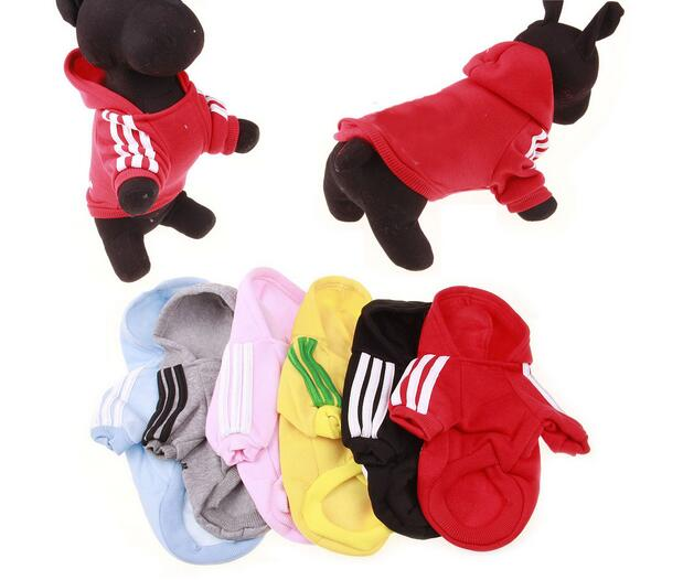 50pcs lot Cotton Pet Clothes Puppy Dog Cat Coat Cool Clothes Hoodie Sweater T shirt Costumes
