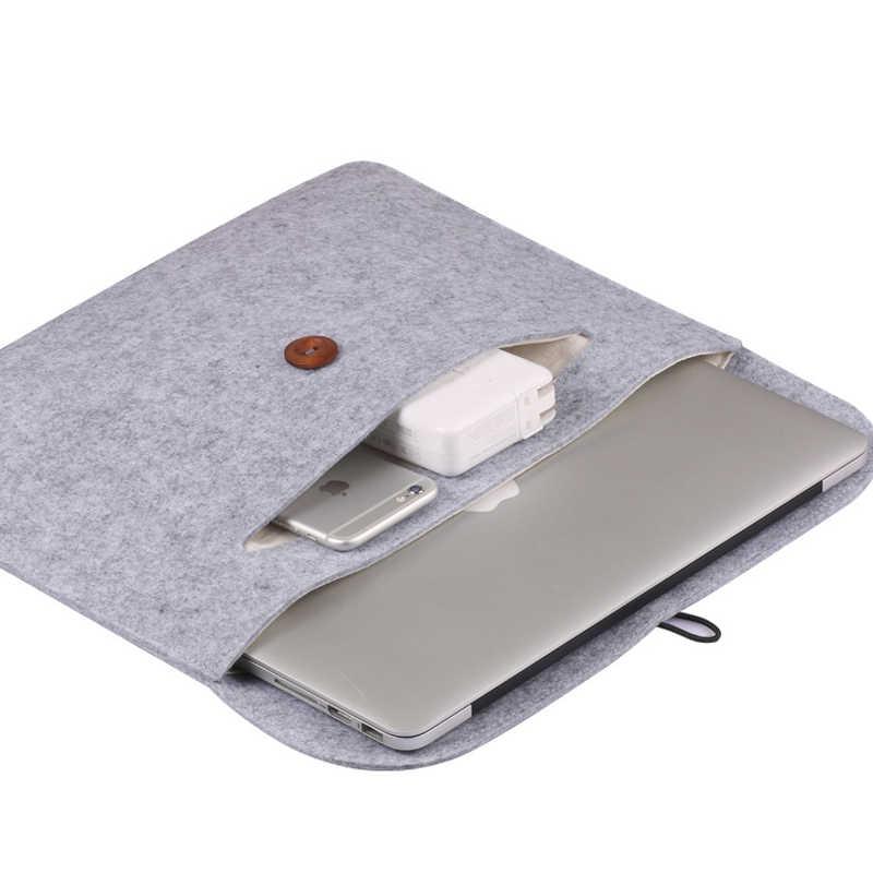 אופנה יוניסקס צמר הרגיש אוניית שרוול 13.3 14 לxiaomi Macbook אוויר פרו 13 מקרה רשתית 11.6 12 15 גברים נשים מחשב נייד נייד תיק