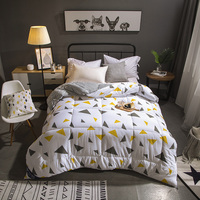 Twin Full Queen King size 100% Cotton cover feather velvet filling Warm Soft Comforter Bedding Quilt Duvet cover filler sets