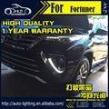 Estilo do carro LEVOU DRL Luz de Circulação Diurna para Toyota Fortuner 2015-2016 Fortuner DRL LEVOU Tampa da Luz de Nevoeiro Da Frente Da Lâmpada Auto partes
