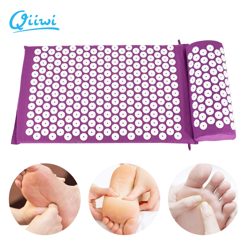 Dr.Qiiwi Acupressure Massager Cushion Mat For Body Head back Relieve Stress Pain Yoga Pad Muscle Tension Spike Mat and Pillow
