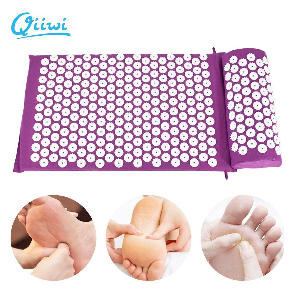 Dr. qiiwi Akupressur Massager Kissen Yoga Matte Für Körper Kopf Entlasten Stress Schmerzen Yoga Pad Muscle Spannung Spike Matte und Kissen