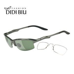 Image 3 - Spolaryzowane aluminiowe męskie okulary przeciwsłoneczne okulary wojskowe Clip On dostosuj krótkowzroczność okulary korekcyjne jazdy okulary przeciwsłoneczne HN1042