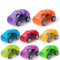 2018 Children Gifts 8pcs/lot Pull Back Car Toys Children Racing Car Baby Mini Cars Cartoon Pull Back Truck Kids Toys