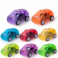2018 Children Gifts 8pcs/lot Pull Back Car Toys Children Racing Car Baby Mini Cars Cartoon Pull Back Truck Kids Toys