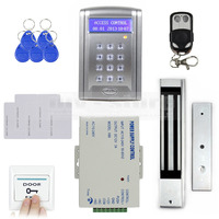 DIYSECUR Remote Control 280kg 600 LBs Kit Electric Magnetic Door Lock Access Control RFID 125KHz ID Card Security System BC200