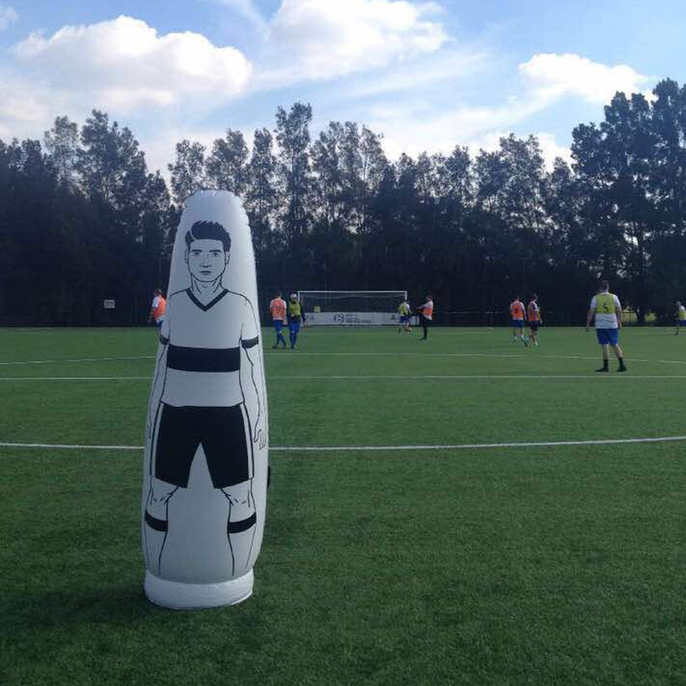 купить 175cm Children Adult Inflatable Football Training goalkeeper Tumbler Air Soccer Dummy Mannequin penalty equipment dropshipping по цене 3535.19 рублей