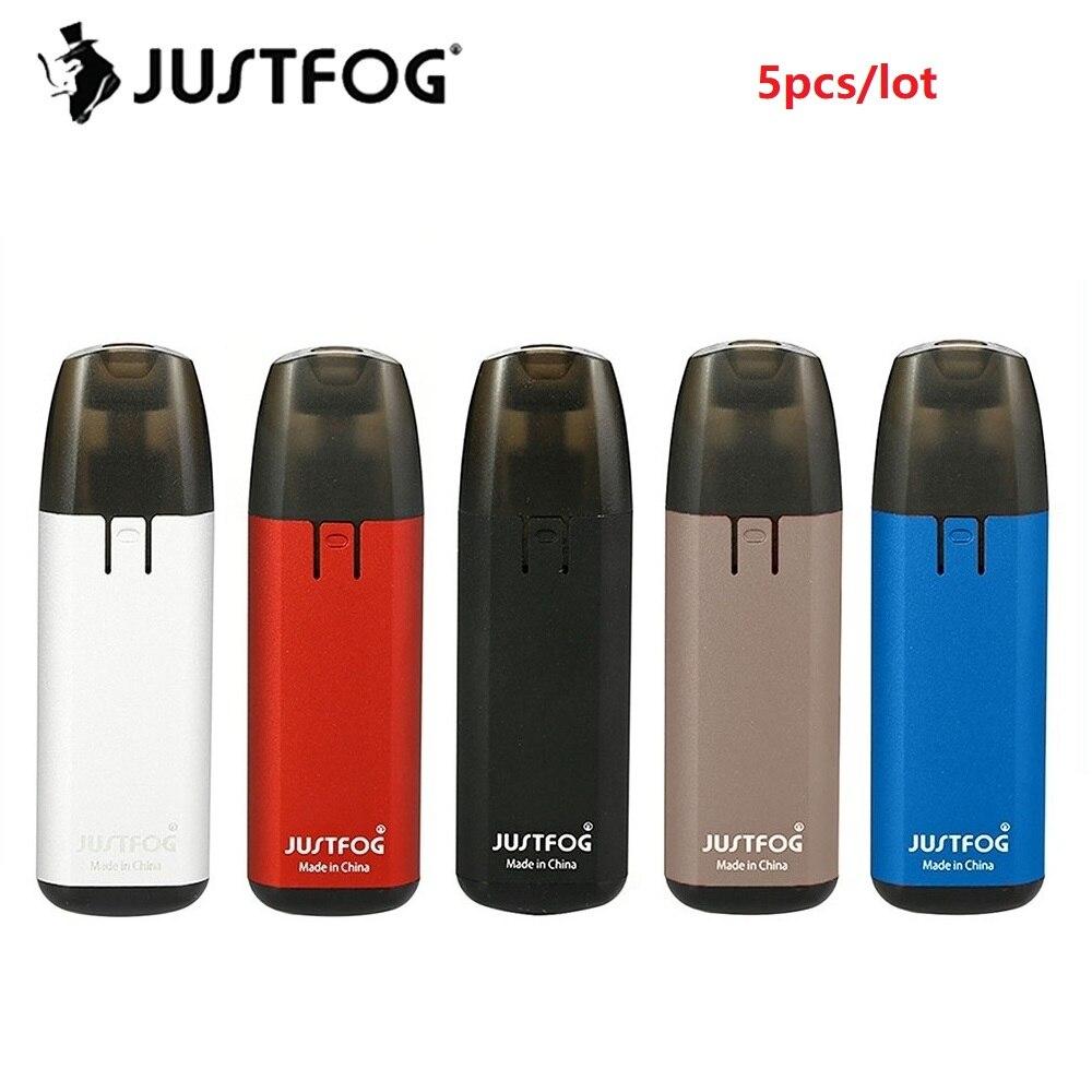 Original 5pcs JUSTFOG MINIFIT Pod Vape Kit with 370mAh Battery 1 5ml Cartridge pod system Vape