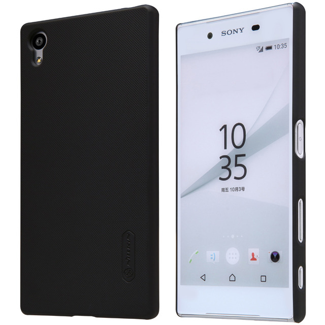 hot sale online 7887d bb252 US $7.57 |For Sony Xperia Z5 /E6653/E6683 Case, Nillkin Black Hard Plastic  Matte Case Cover For Sony Xperia Z5 (Z 5) Gift Screen Protector-in Fitted  ...
