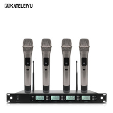 Professional Microphone 200 Channel Optional Frequency 4 Handheld Wireless System Stage Home KTV