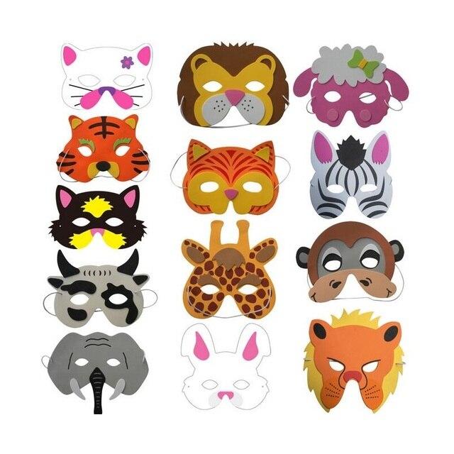 acquista il più recente dettagliare Garanzia di soddisfazione al 100% US $243.99 6% di SCONTO|500 pz Assortiti Schiuma EVA Maschere di Animali  per I Bambini Festa Di Compleanno Favori Dress Up Costume Zoo Jungle Party  ...
