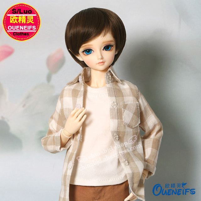 BJD SD Doll Clothes 1/4  Simple Set Shirt T-shirt Trousers For Minifee YF4-137 Doll Accessories
