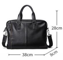 Natural Genuine Leather Men's Bag