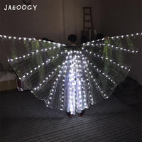 LED colorful crown, luminous gold wing night bar, wing performance, Ballet Dress, cloak and cloak dance.