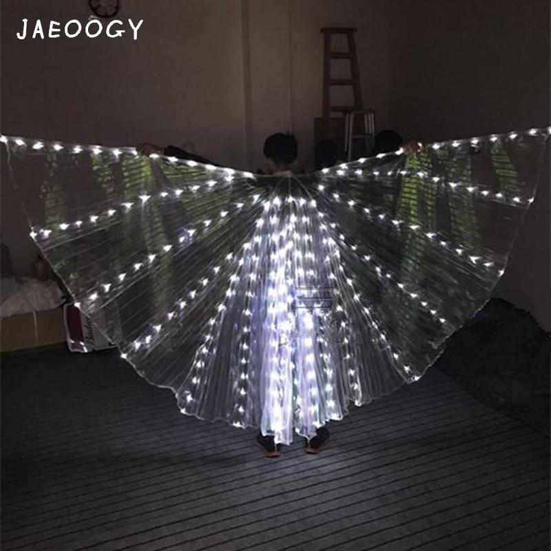 Couronne colorée de LED, barre de nuit d'aile d'or lumineuse, performance d'aile, robe de Ballet, cape et danse de cape.
