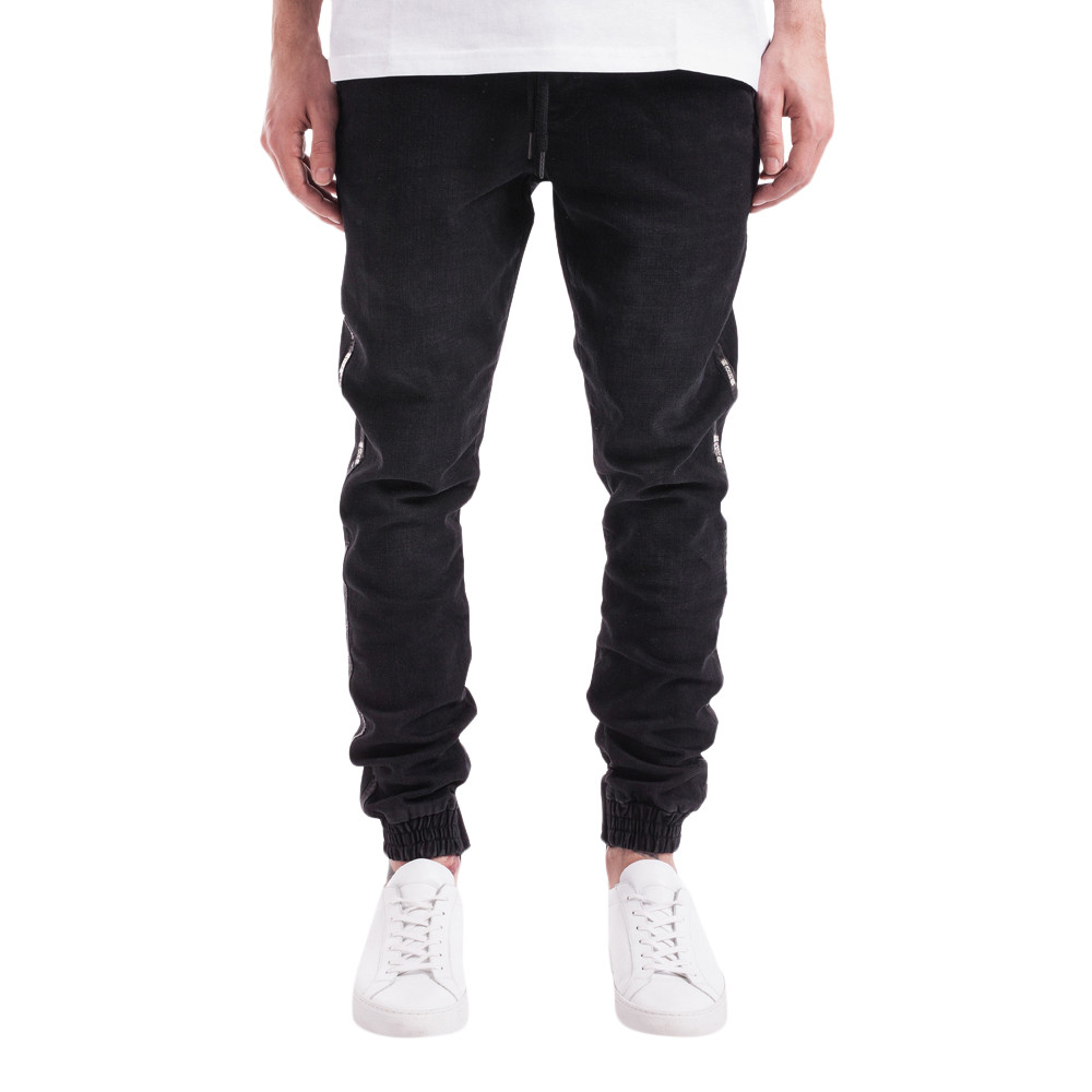 Feitong 2019 men pants casual Mens Stretch Denim Pant Distressed  Freyed Slim Fit Pocket Jeans Trousers