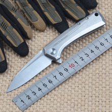 ZT 0808 Tactical Folding Knife with D2 Blade 60HRC KVT Ball Bearing System Stainless Steel Handle Camping Survival Knives