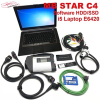 Car Diagnostic Tool MB STAR C4 with i5 CPU Laptop E6420 with Software Hard Disc with WIFI Function SD Connect for Passenger Car