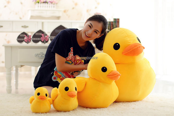 Fancytrader Super Huge 39\'\' 100cm Giant Plush Stuffed Yellow Rubber Duck, free shipping FT90122 (3).jpg