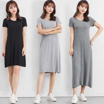 2019 Summer Plus size Sleepshirt Women nightgown soft modal Cotton nightdress Female Short sleeve O-neck collar home sleep dress - DISCOUNT ITEM  14% OFF All Category