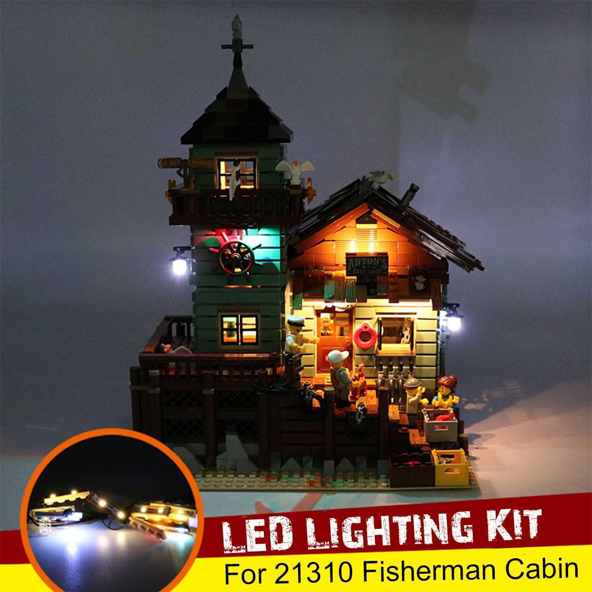 Kit de iluminação led usb apenas para lego 21310 para pescador cabine pesca loja blocos de construção tijolos brinquedo (para não incluir o modelo)